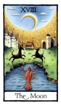 The Moon Tarot Card - Old English Tarot Deck