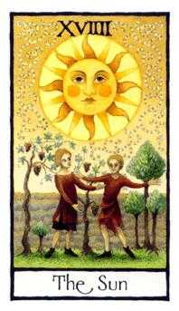 The Sun Tarot Card - Old English Tarot Deck