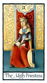 The High Priestess Tarot Card - Old English Tarot Deck