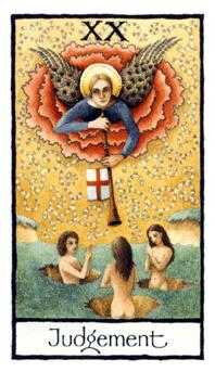 The Judgment Tarot Card - Old English Tarot Deck