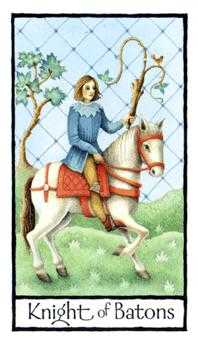 Prince of Staves Tarot Card - Old English Tarot Deck