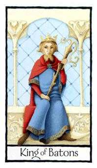King of Staves Tarot Card - Old English Tarot Deck
