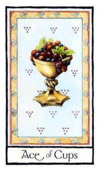 Ace of Cups Tarot Card - Old English Tarot Deck