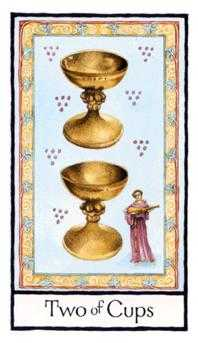 Two of Cups Tarot Card - Old English Tarot Deck