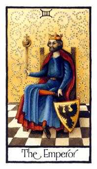 The Emperor Tarot Card - Old English Tarot Deck