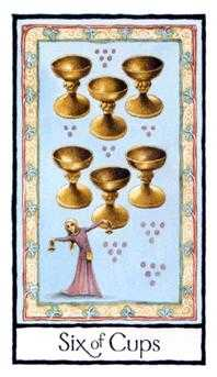 Six of Ghosts Tarot Card - Old English Tarot Deck