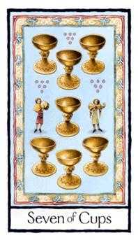 Seven of Bowls Tarot Card - Old English Tarot Deck