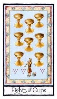 Eight of Bowls Tarot Card - Old English Tarot Deck