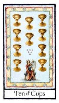 Ten of Hearts Tarot Card - Old English Tarot Deck