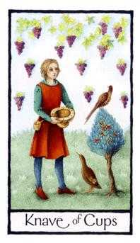 Daughter of Cups Tarot Card - Old English Tarot Deck