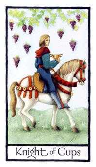 Warrior of Cups Tarot Card - Old English Tarot Deck