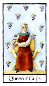 Queen of Bowls Tarot Card - Old English Tarot Deck