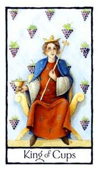 King of Cauldrons Tarot Card - Old English Tarot Deck