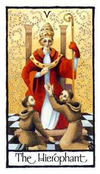 The Hierophant Tarot Card - Old English Tarot Deck