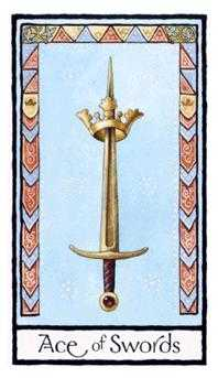Ace of Swords Tarot Card - Old English Tarot Deck