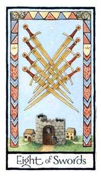 Eight of Arrows Tarot Card - Old English Tarot Deck