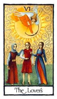 The Lovers Tarot Card - Old English Tarot Deck
