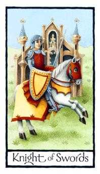 Cavalier of Swords Tarot Card - Old English Tarot Deck