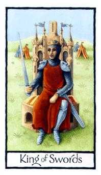 Roi of Swords Tarot Card - Old English Tarot Deck