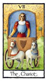 The Chariot Tarot Card - Old English Tarot Deck