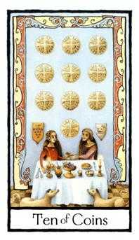 Ten of Coins Tarot Card - Old English Tarot Deck