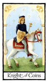 Cavalier of Coins Tarot Card - Old English Tarot Deck