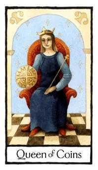 Queen of Coins Tarot Card - Old English Tarot Deck