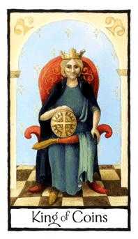 Roi of Coins Tarot Card - Old English Tarot Deck