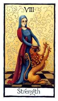 Strength Tarot Card - Old English Tarot Deck