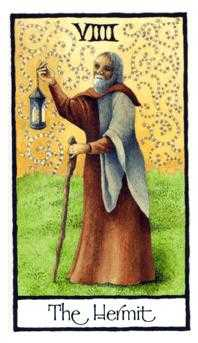 The Hermit Tarot Card - Old English Tarot Deck