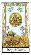 Ace of Coins Tarot card in Old English deck
