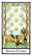 Seven of Coins Tarot card in Old English Tarot deck