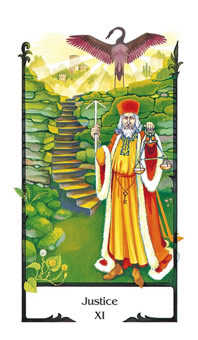 Justice Tarot Card - Old Path Tarot Deck