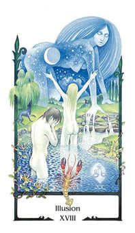 The Moon Tarot Card - Old Path Tarot Deck