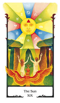 The Sun Tarot Card - Old Path Tarot Deck