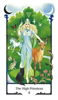 The High Priestess Tarot Card - Old Path Tarot Deck