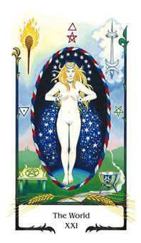 The World Tarot Card - Old Path Tarot Deck