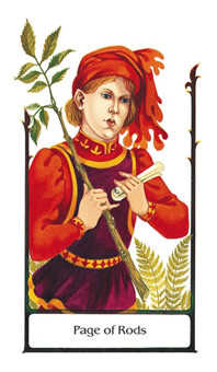 Valet of Batons Tarot Card - Old Path Tarot Deck