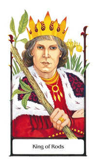 King of Staves Tarot Card - Old Path Tarot Deck