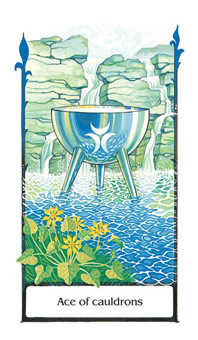 Ace of Bowls Tarot Card - Old Path Tarot Deck