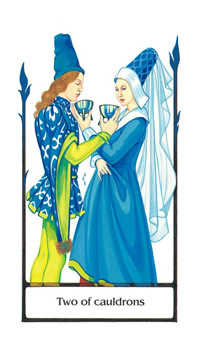 Two of Hearts Tarot Card - Old Path Tarot Deck