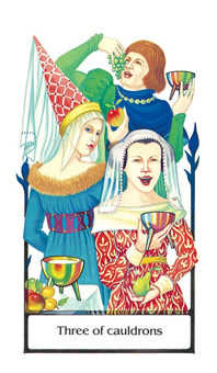 Three of Hearts Tarot Card - Old Path Tarot Deck