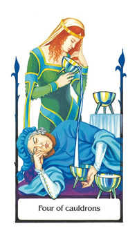 Four of Cups Tarot Card - Old Path Tarot Deck