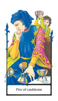 Five of Cups Tarot Card - Old Path Tarot Deck