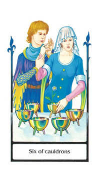 Six of Cauldrons Tarot Card - Old Path Tarot Deck