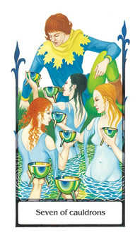 Seven of Bowls Tarot Card - Old Path Tarot Deck