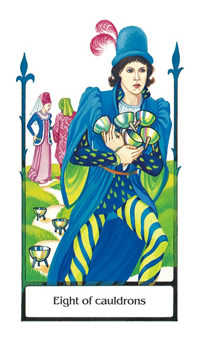 Eight of Water Tarot Card - Old Path Tarot Deck