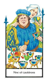 Nine of Bowls Tarot Card - Old Path Tarot Deck