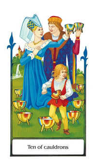 Ten of Hearts Tarot Card - Old Path Tarot Deck