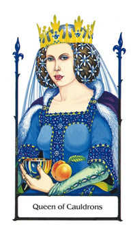 Queen of Hearts Tarot Card - Old Path Tarot Deck